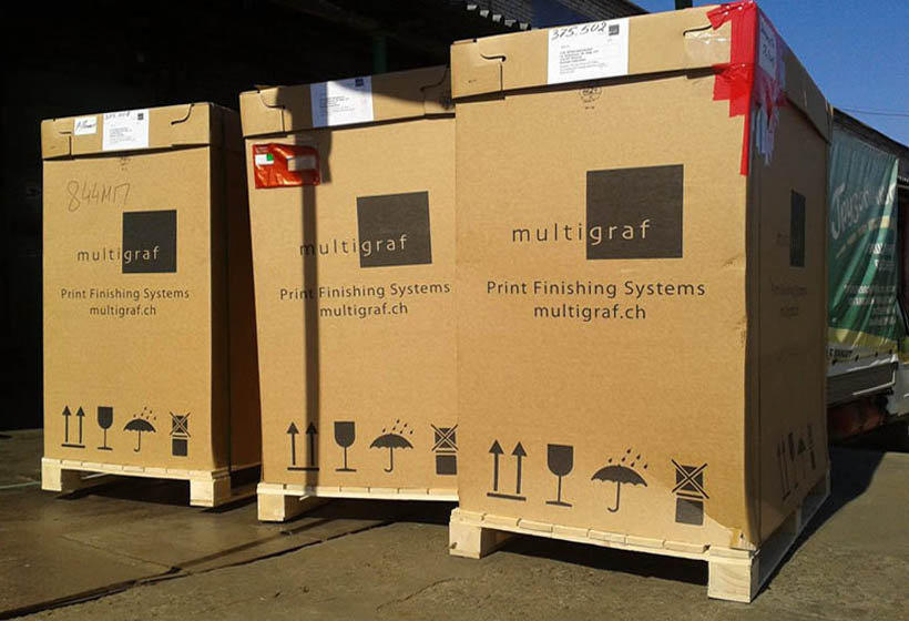 Разгрузка оборудования Multigraf