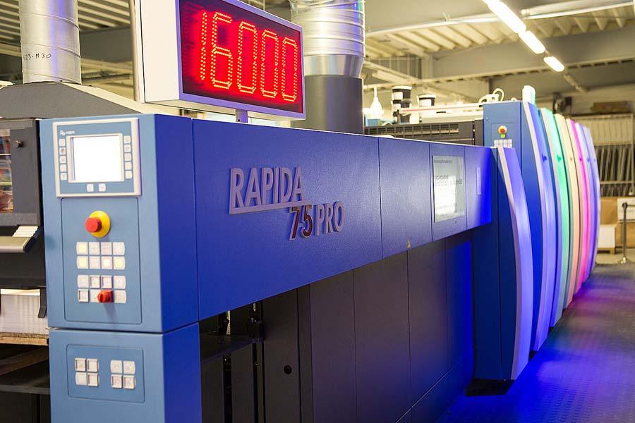 Первая KBA Rapida 75 PRO с LED-UV в Польше