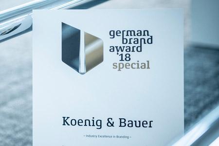 Koenig & Bauer награждена German Brand Award