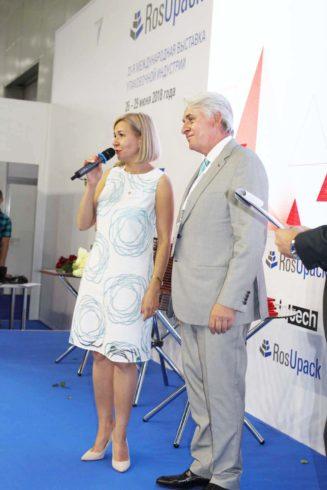 Владимир Чуйков (НКПак ) и Наталья Таланова. (Росупак)