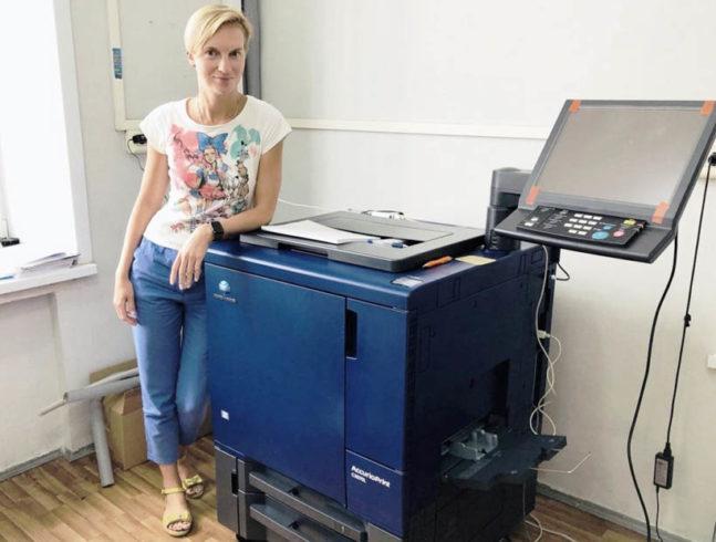 Директор типографии НИУ ВШЭ Екатерина Суетина.