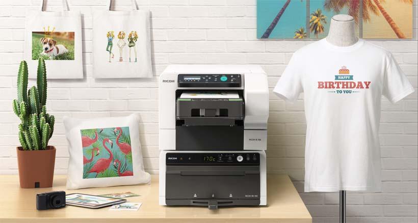 Текстильный принтер Ricoh Ri 100 и продукция отпечатанная на нём1