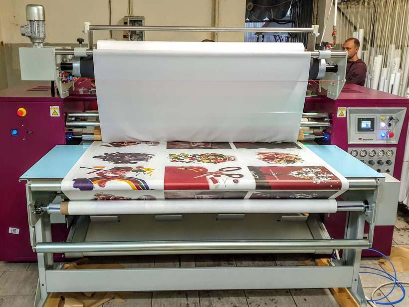 «Мир рекламы» осваивает печать рекламного текстиля