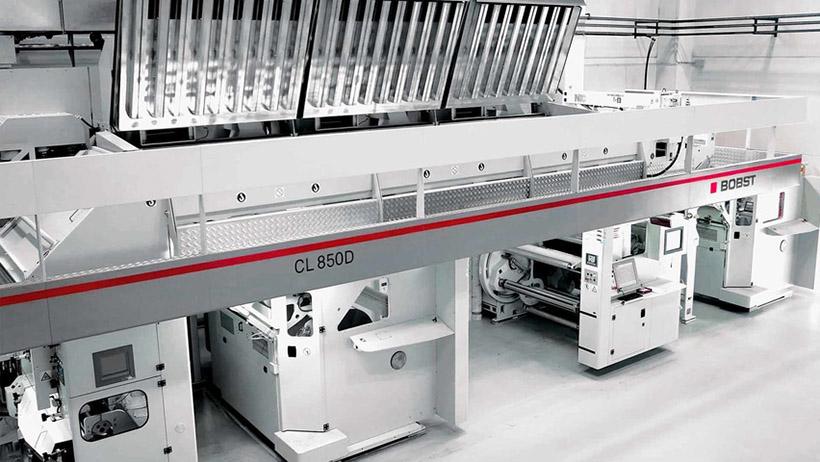 Ламинатор BOBST CL 850D в типографии «Полиграфоформление»
