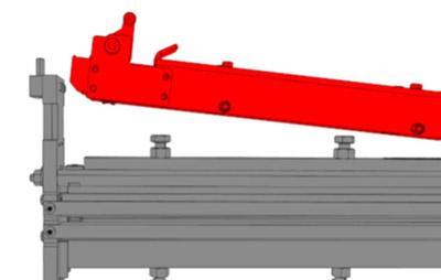 Механизм установки биговочной матрицы